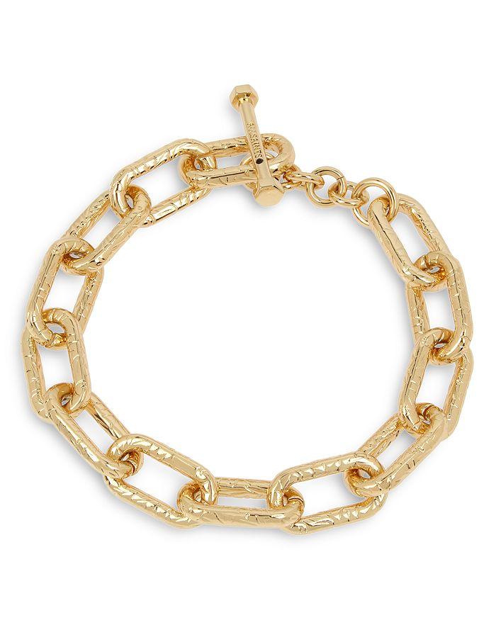 ALLSAINTS - Textured Link Toggle Bracelet