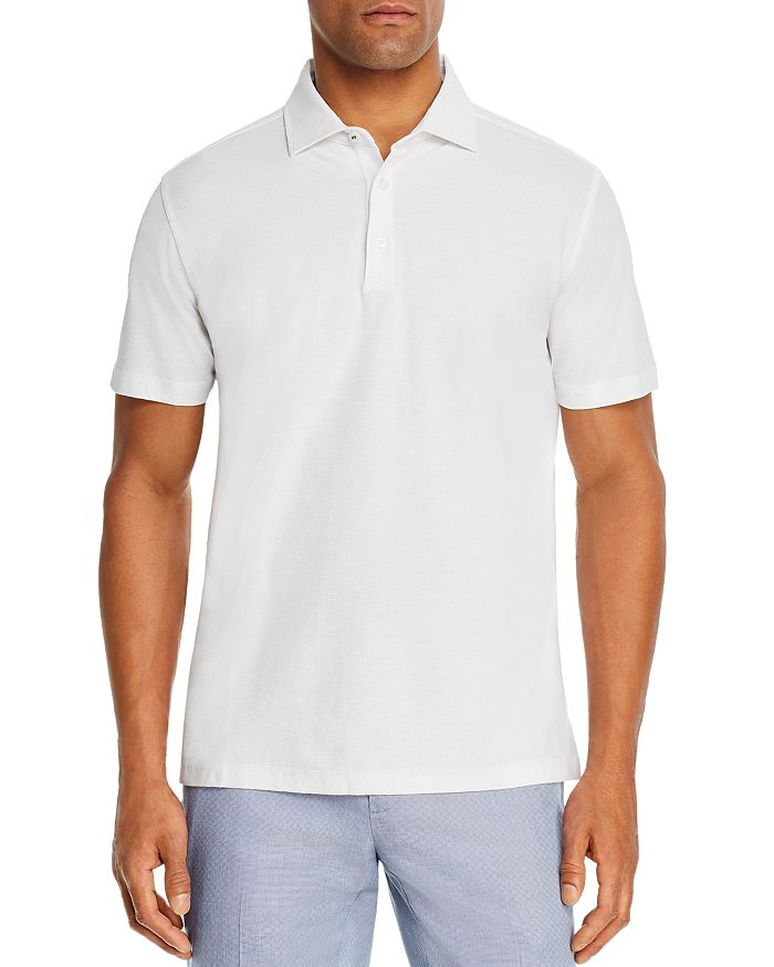 Dylan Gray - Dobby Textured Classic Fit Polo Shirt