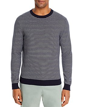 The Men's Store at Bloomingdale's - Cotton Stripe Classic Fit Crewneck Sweater - 100% Exclusive