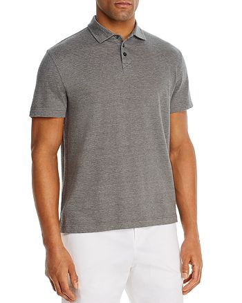 The Men's Store at Bloomingdale's - Linen-Blend Textured Stripe Classic Fit Polo Shirt - 100% Exclusive