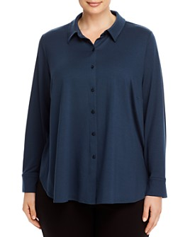 Eileen Fisher Plus - Classic Collar Shirt