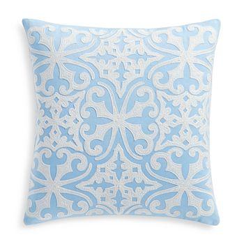 """Sky - Blue Tile Decorative Pillow, 18"""" x 18"""""""