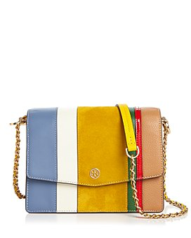 Tory Burch - Robinson Mini Balloon Stripe Convertible Leather Shoulder Bag