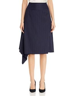 BOSS - Vollux Draped-Hem Pinstriped Skirt