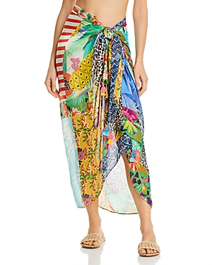 Echo Patchwork Printed Pareo Swim Cover-Up