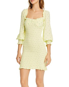 Faithfull the Brand - Gombardy Smocked Floral-Print Dress
