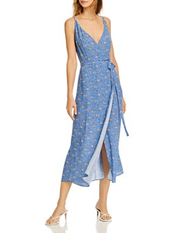 FRENCH CONNECTION - Verona Printed Faux-Wrap Dress