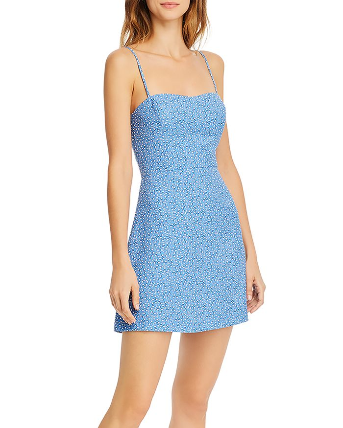 FRENCH CONNECTION - Blue Elao Printed Dress