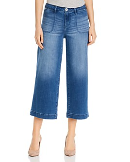 JAG Jeans - Simone Cropped Wide-Leg Jeans in Blue Reef