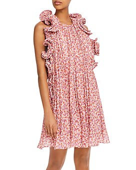 Amur - Mimi Floral-Print Ruffled Dress