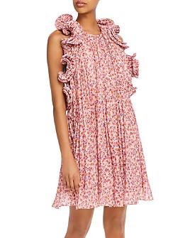 Amur - Mimi Floral-Print Ruffled Dress