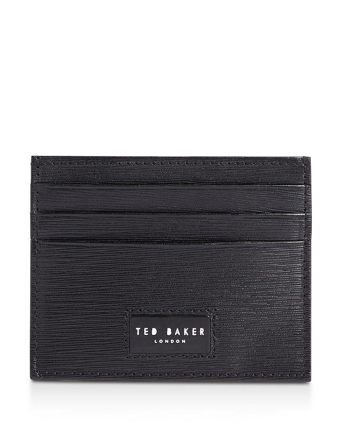 Ted Baker - Despot Wood-Grain Leather Card Holder