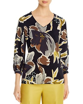 Lafayette 148 New York - Arnette Silk Floral-Print Blouse