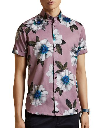 Ted Baker - But Why Cotton Floral-Print Shirt