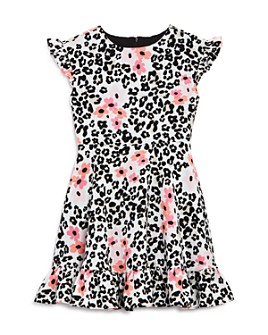 US Angels - Girls' Leopard-Print Textured Dress - Little Kid