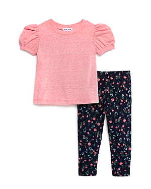 Splendid Girls' Puff-Sleeve Top & Floral Leggings Set - Baby