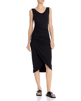 Sundry - Ruched Tulip-Hem Dress