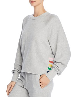 Sundry - Rainbow-Striped Sweatshirt