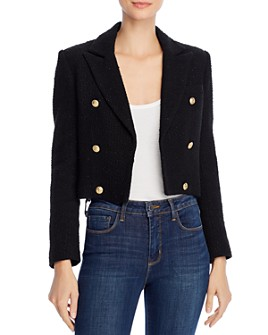Generation Love - Gwenyth Tweed Open-Front Blazer