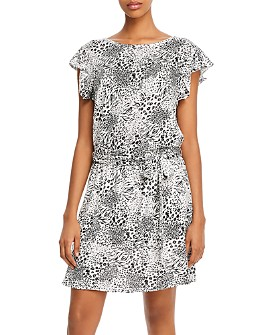 Joie - Anthea Linen Snake-Print Mini Dress