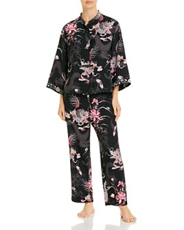 Natori - Mixed-Print Pajama Set