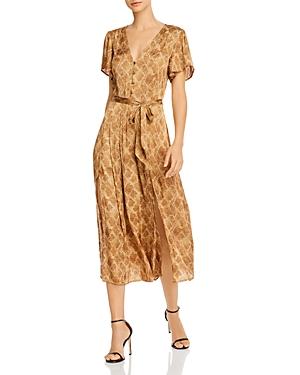 Paige Alayna Snakeskin Print Belted Dress-Women
