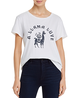 Mother The Boxy Goodie Goodie Llama Tee-Women
