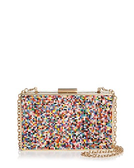 AQUA - Multi Beaded Box Frame Clutch - 100% Exclusive