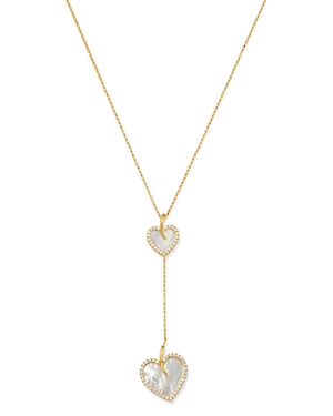 Roberto Coin 18K Yellow Gold Mother-of-Pearl & Diamond Two Heart Y Necklace - 100% Exclusive-Jewelry & Accessories
