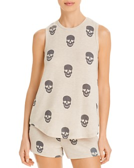 PJ Salvage - Peachy Dreams Skull-Printed Tank Top - 100% Exclusive