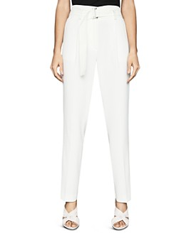 REISS - Mia Belted Straight-Leg Pants