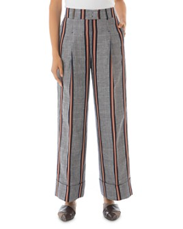 Peserico - Striped Pleated Wide-Leg Pants