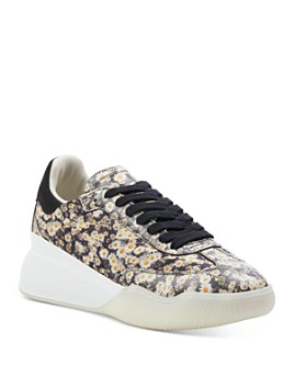 Stella McCartney - Women's Floral-Printed Lace Up Sneakers