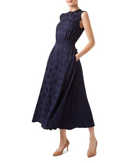 HOBBS LONDON - Ashley Polka Dot Jacquard Dress