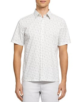 Theory - Irving Waverly Slim Fit Short Sleeve Button-Down Shirt