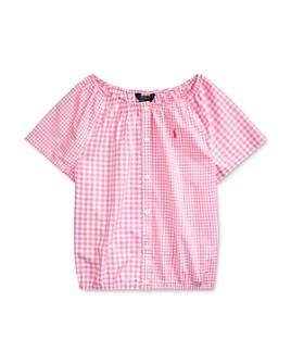 Ralph Lauren - Girls' Mixed-Gingham Cotton Top - Big Kid