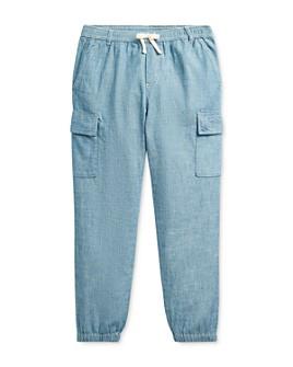 Ralph Lauren - Girls' Chambray Cargo Pants - Big Kid