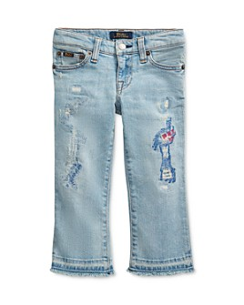 Ralph Lauren - Girls' Cropped Flare Denim Jean - Little Kid