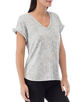 B Collection by Bobeau - Adrianna Printed French Terry Top