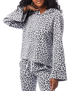 ALTERNATIVE - Eco Teddy Animal-Print Hoodie