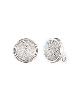 Ralph Lauren - Mesh Button Clip-On Earrings
