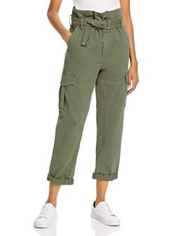 FRAME - Safari Belted Cropped Pants