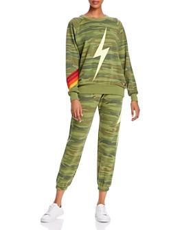 Aviator Nation - Bolt Camo-Print Sweatshirt and Jogger Pants