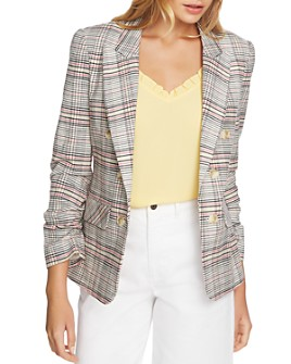 1.STATE - Cassia Ruched-Sleeve Blazer