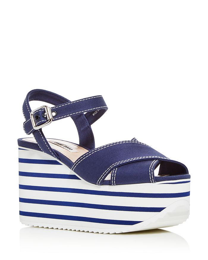 Miu Miu - Women's Calzature Donna Platform Wedge Sandals