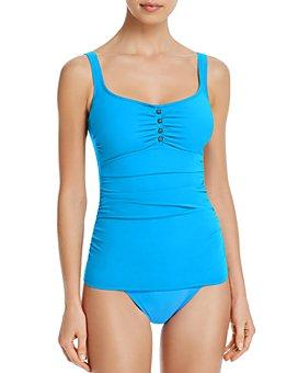 Profile by Gottex - Maharani Round-Neck Tankini Top & Full-Coverage Bikini Bottom