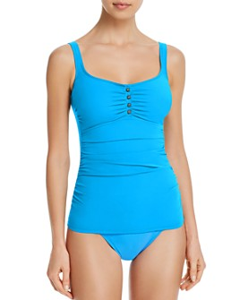 Profile by Gottex - Maharani Round-Neck Tankini Top & Full-Coverage Bikini Bottom