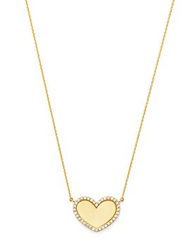 Moon & Meadow - 14K Yellow Gold Diamond Heart Pendant Necklace - 100% Exclusive