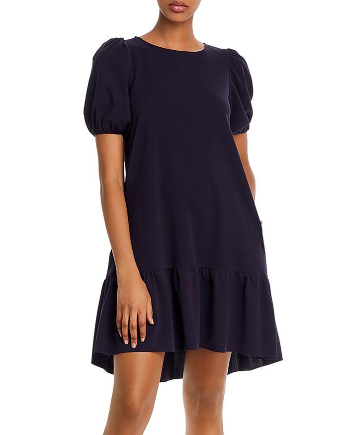 AQUA - Puff-Sleeve Mini Dress - 100% Exclusive