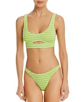bond-eye - Striped The Sasha Bikini Top & The Scene Bikini Bottom